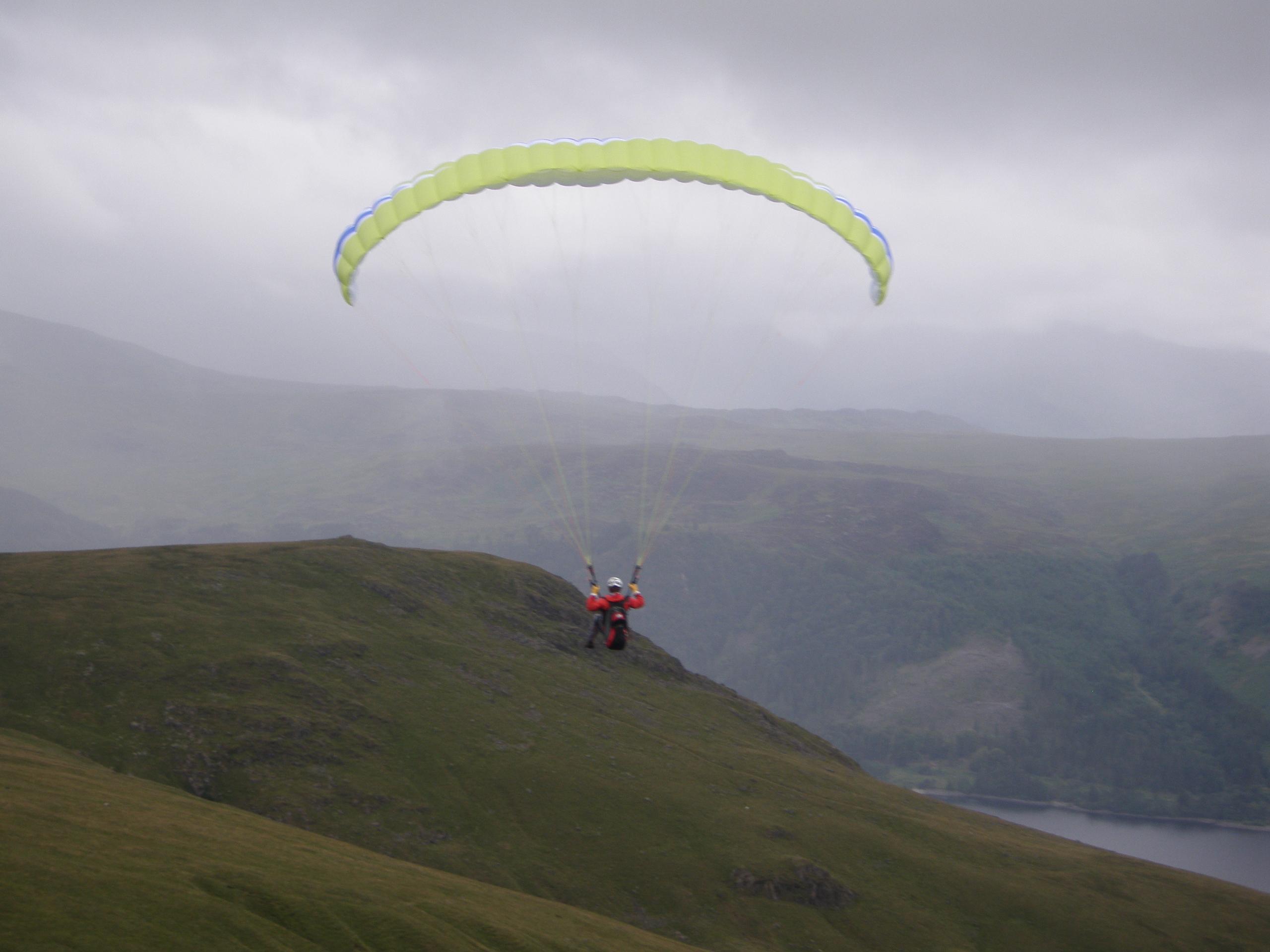 Matthew Dieumegard-Thornton Paragliding